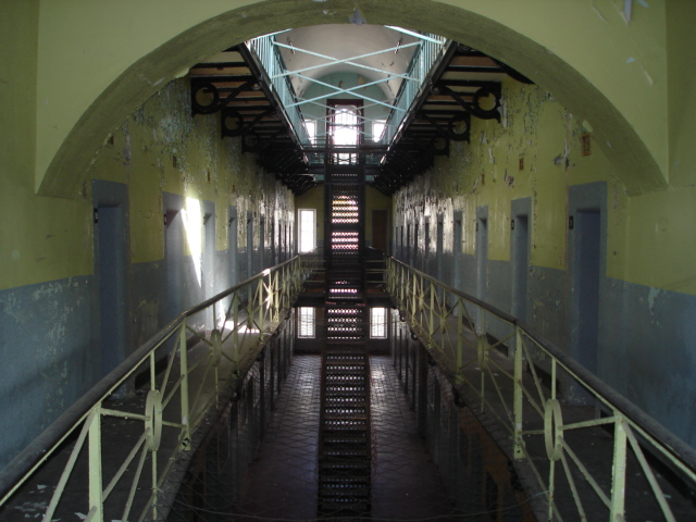Armagh Gaol Internal picture of one of the wings 2nd floor