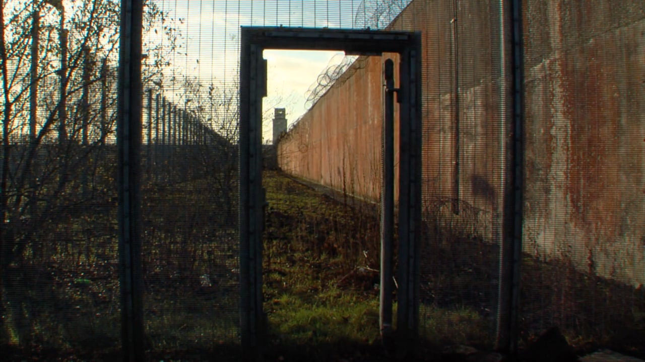The wall and wire of the Maze and Long Kesh.