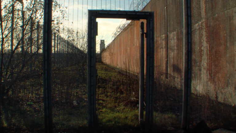 The wire, wall and dead space between the outside world and the Maze/Long Kesh