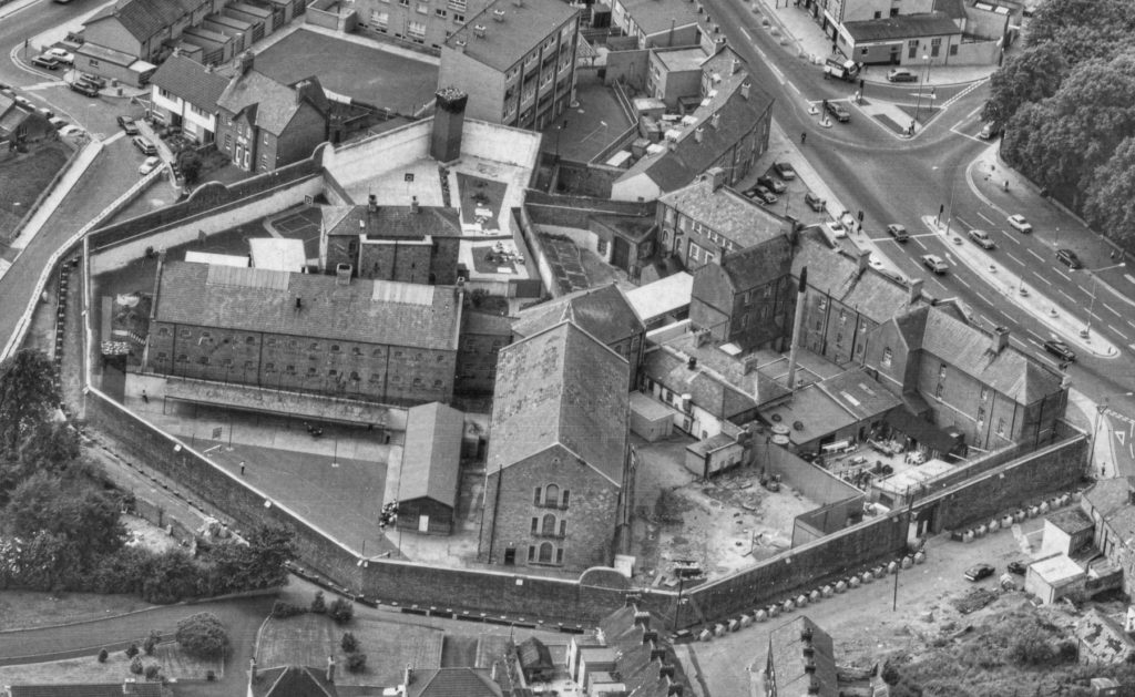 Aerial view of Armagh Gaol.
