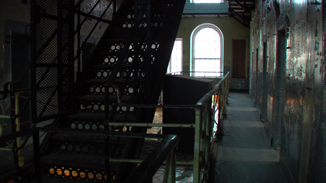 A panoramic of B-Wing in the Armagh Gaol.