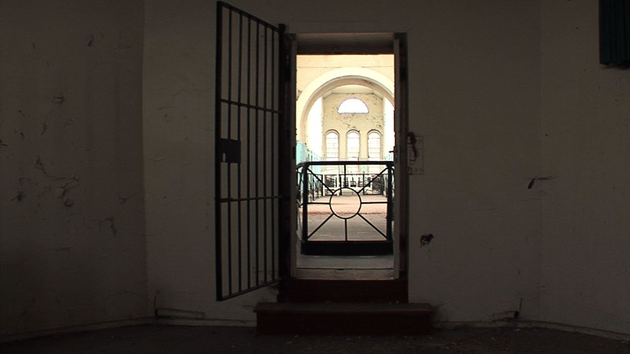 A picture of the chapel when entering from the prison.
