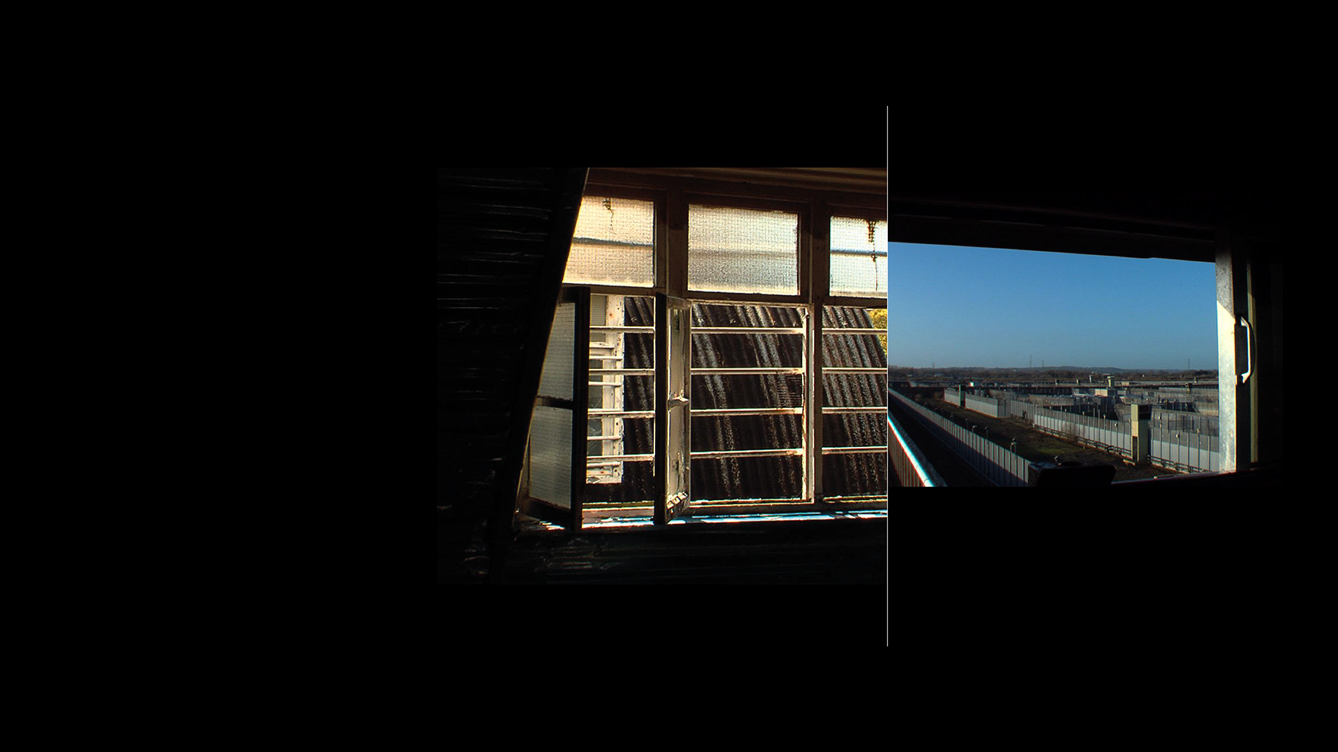Views of the prison from windows.