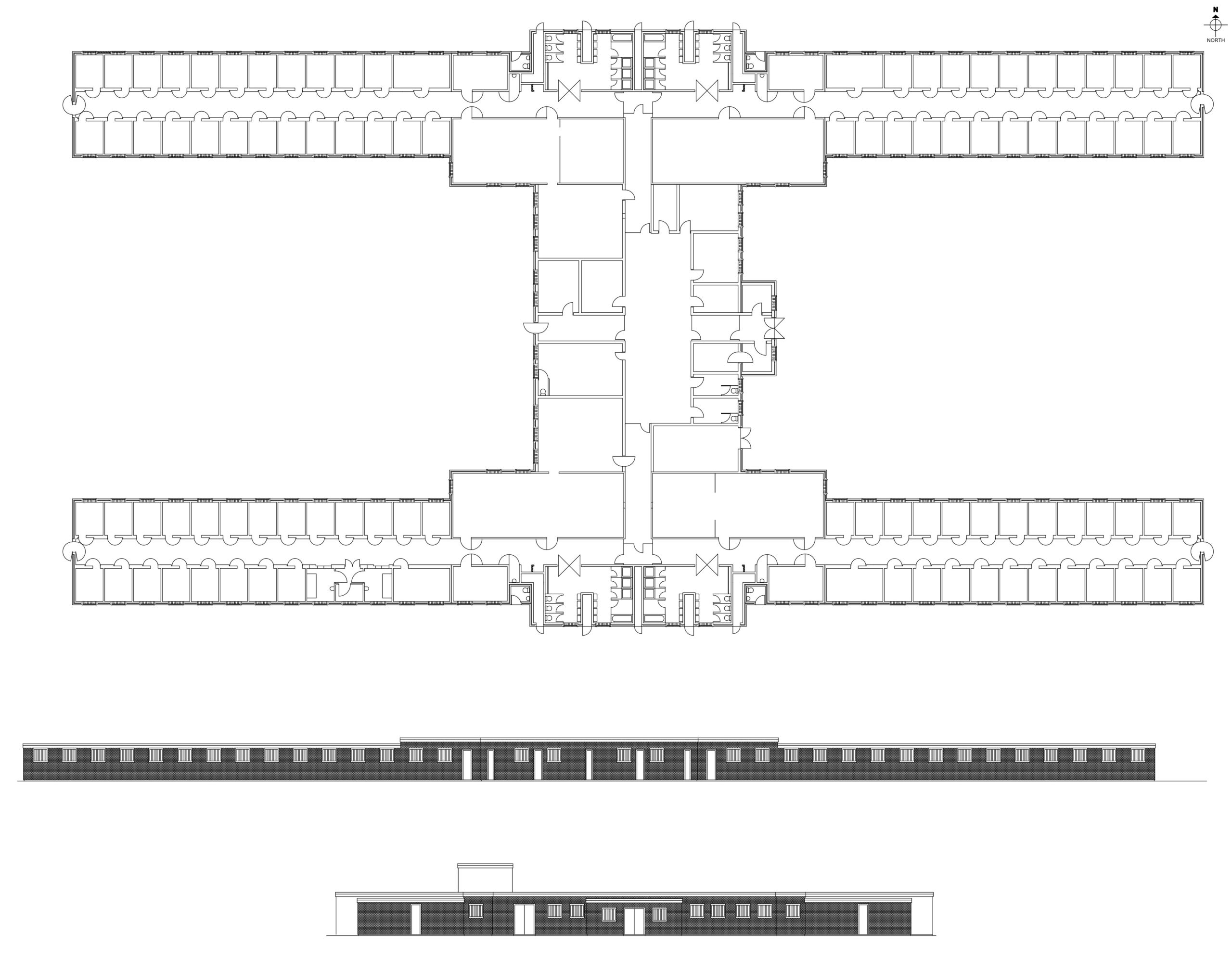 H-Block 6 Plan and elevations in the archive of Steve Jensen Design.