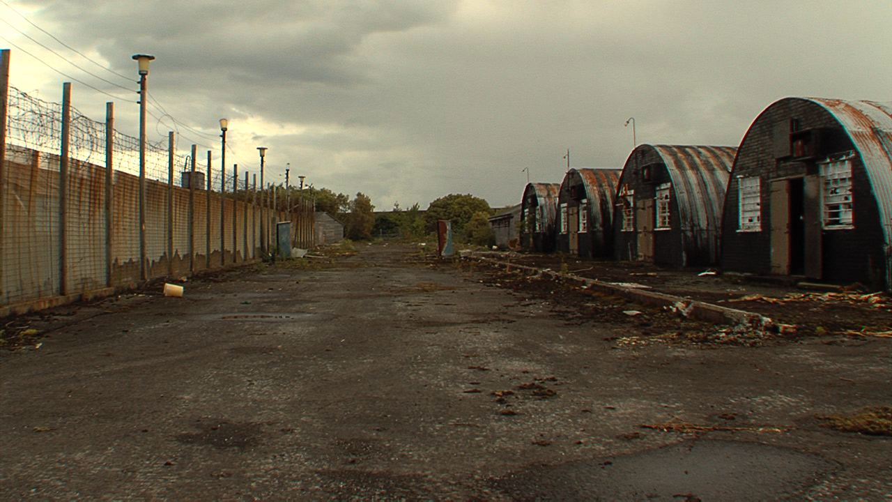 A picture of the compounds of Long Kesh from the outside.
