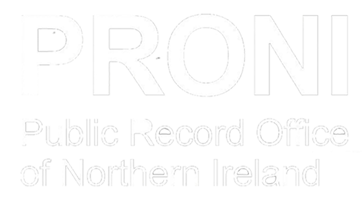 PRONI logo in white.