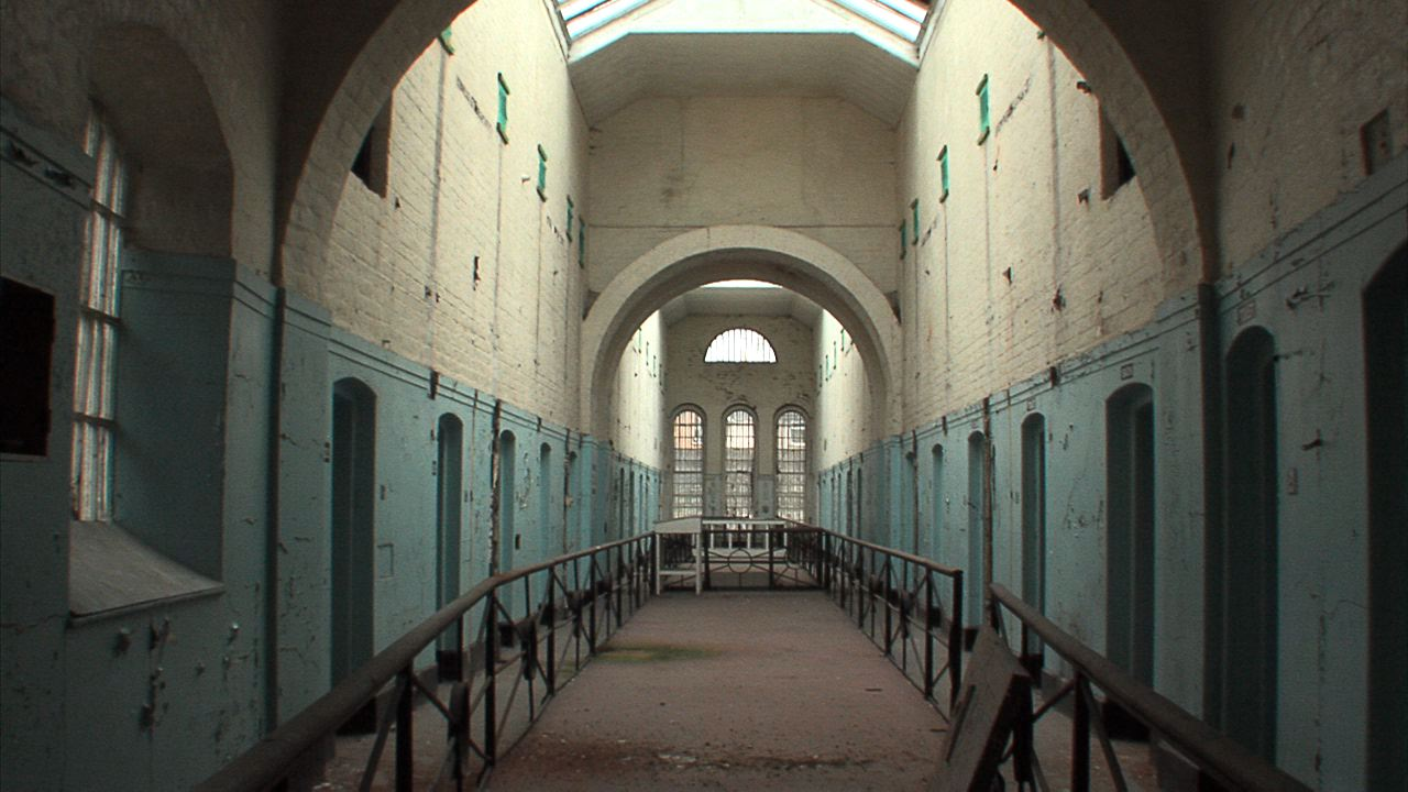 A shot of the top floor  in the Armagh Gaol.